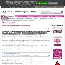 """Groupe d'études et d'expertise """"École du socle"""""""