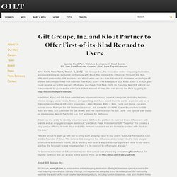 Groupe, Inc. and Klout Partner to Offer First-of-its-Kind Reward to Users