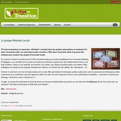 Le groupe Monnaie Locale – Liège en Transition