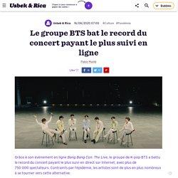 Le groupe BTS bat le record du concert payant le plus suivi en ligne