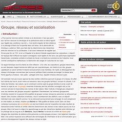 Groupe, réseau et socialisation