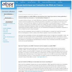Groupe technique sur l'adoption de RDA en France