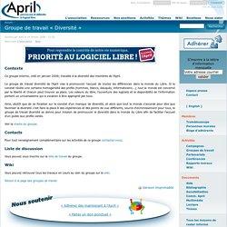 April, Groupe de travail « Diversité »
