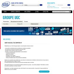 Groupe UGC - Recrutement