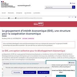 Le groupement d'intérêt économique (GIE), une structure pour la coopération économique