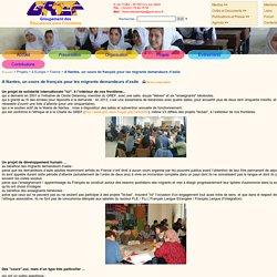 GRoupement des Éducateurs sans Frontières - A Nantes, un cours de français pour les migrants demandeurs d'asile