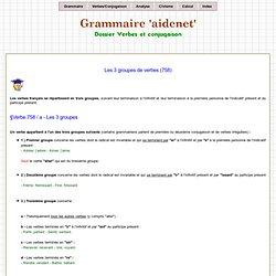 Groupes des verbes pour la conjugaison
