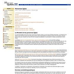 MSSS - Sujets - Groupes de populations - Personnes âgées
