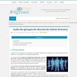 Audit des groupes de sécurité de l'Active Directory