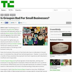 Is Groupon Bad For Small Businesses?