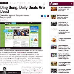 Groupon earnings report: The daily deals site's crummy business model is finally dead. Hooray!