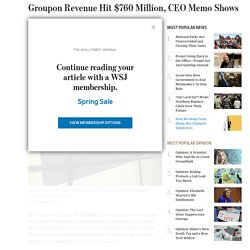 Groupon Revenue Hit $760 Million Last Year