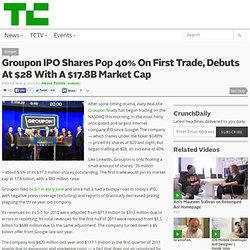 Groupon IPO Shares Pop 40% On First Trade, Debuts At $17.8B Market Cap