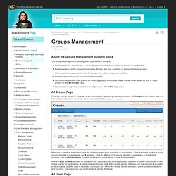 Groups Management - Blackboard Help