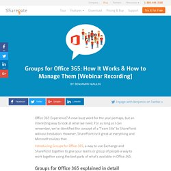 Groups for Office 365: How It Works & How to Manage Them