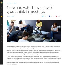Note and vote: how to avoid groupthink in meetings