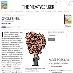 Groupthink - The New Yorker