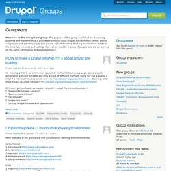 Groupware | groups.drupal.org
