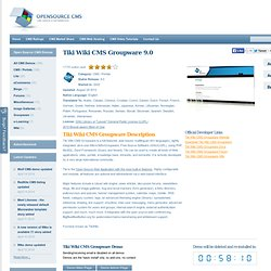 Wiki Tiki CMS Csoportmunka változat 8,3 Demo
