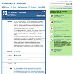 Tiki Wiki CMS Groupware - Social Source Commons