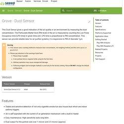 Grove - Dust Sensor - Seeed Wiki