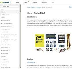 Grove - Starter Kit v3 - Seeed Wiki