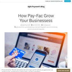 How Pay-Fac Grow Your Businessess – Agile Payment's Blog