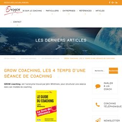 GROW coaching, les 4 temps d'une séance de Coaching