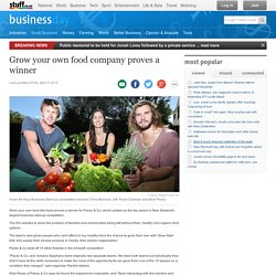 Grow your own food company proves a winner
