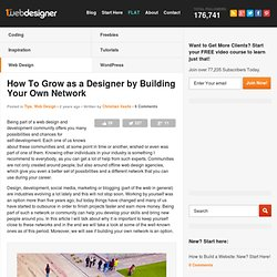How To Grow as a Designer By Building Your Own Network