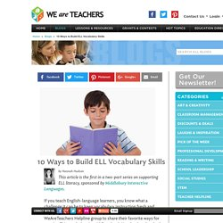 Grow ELL Vocabulary Skills