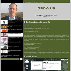 GROW UP - Contact et renseignements