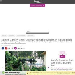 Grow a Vegetable Garden in Raised Beds