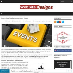 How to Grow Your Business with Live Events