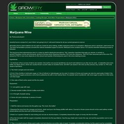 Growery - Marijuana Wine