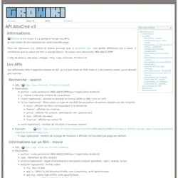 GroWiki - API AlloCiné v3