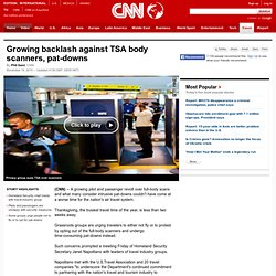 Growing backlash against TSA body scanners, pat-downs