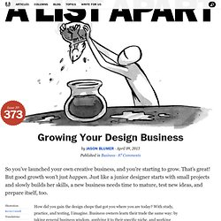 Growing Your Design Business