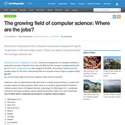 The growing field of computer science: Where are the jobs?