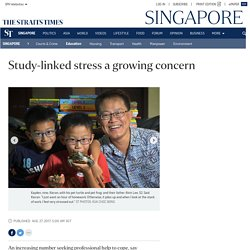 Study-linked stress a growing concern, Education News