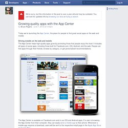 Growing quality apps with the App Center
