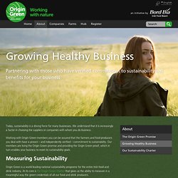 Origin Green - Développer une entreprise prospère