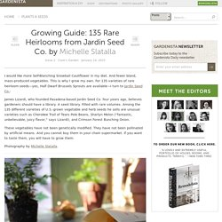 Growing Guide: 135 Rare Heirlooms from Jardin Seed Co.: Gardenista