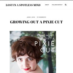 Growing out a pixie cut: a plan