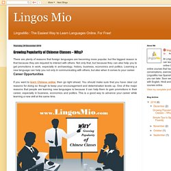 Lingos Mio: Growing Popularity of Chinese Classes – Why?