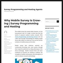 Survey Programming and Hosting