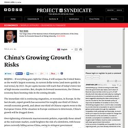 """China's Growing Growth Risks"" by Yao Yang"