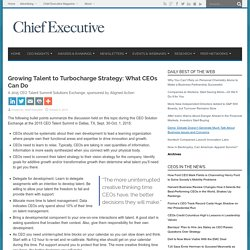 Growing Talent to Turbocharge Strategy: What CEOs Can Do
