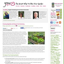 Growing Vegetables with Square Foot Gardening