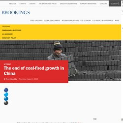 The end of coal-fired growth in China
